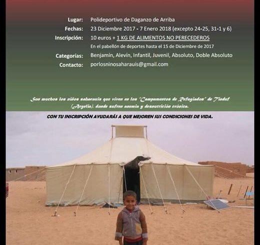 """V Torneo de Tenis Solidario de Daganzo """"por los niños del pueblo saharaui""""   Del…"""