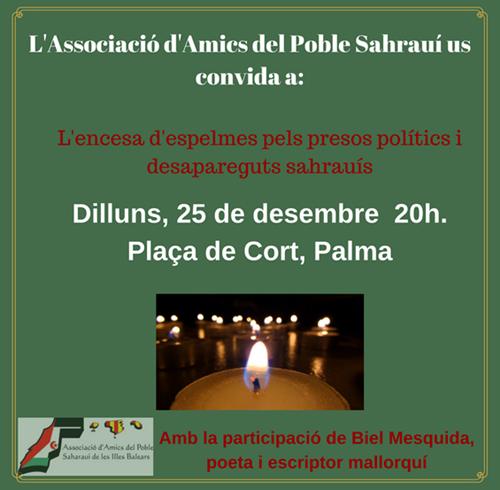 Concentración AAPSIB por los presos políticos y desaparecidos saharauis