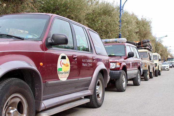 Compañeros de Femas participan en el viaje solidario 4×4. Todos los vehículos se…