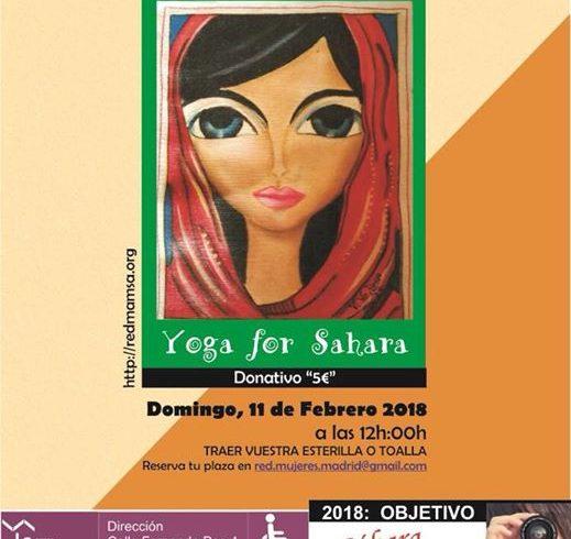 Mañana clase de Yoga en apoyo a las mujeres saharauis !!!!  🇪🇭🇪🇭