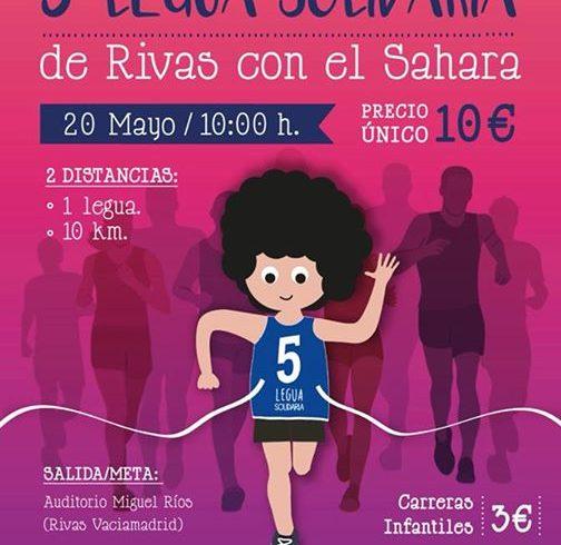 No lo dudes y apúntate a la legua solidaria que organiza la Asociación de Rivas …