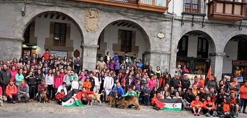Ruta solidaria en favor de la infancia saharaui en Castro Urdiales