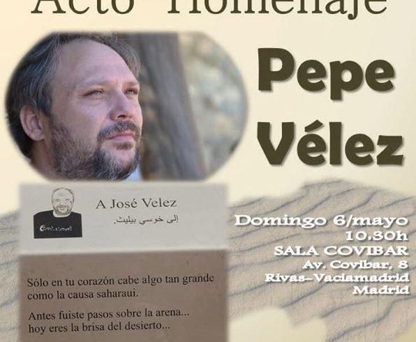 """Mañana con Rivas Sahel acto homenaje a nuestro compañero Pepe Vélez.   """"Antes fu…"""