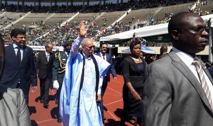 Presidente de la RASD participa en la ceremonia de investidura del electo presidente de Zimbabue