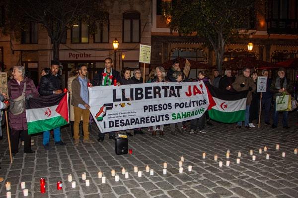 Concentración con encendido de velas en apoyo a los presos políticos y desaparecidos saharauis – CEAS-Sahara