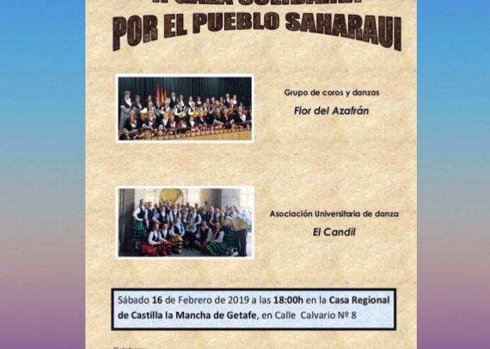 Sábado 16 de febrero. Gala solidaria por el Pueblo Saharaui en Getafe. Coro y Da…