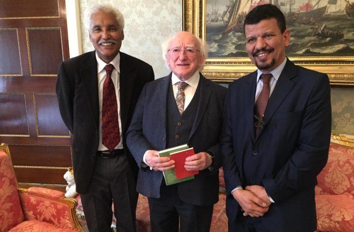 Presidente de la República Irlanda recibe delegación saharaui de alto nivel