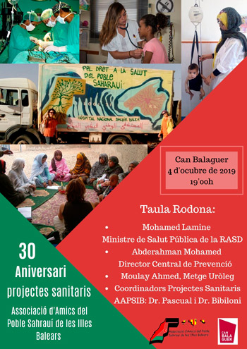 Cartel 30 aniversario proyectos sanitarios baleares