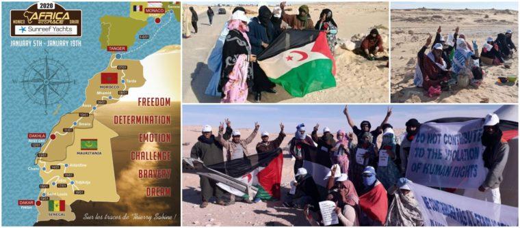 El paso fronterizo saharaui El Guerguerat, Sahara Occidental, territorios liberados, cerrado | POR UN SAHARA LIBRE .org