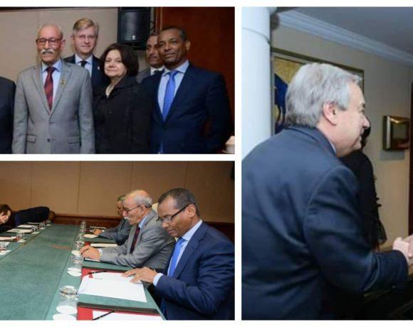 El presidente de la República Saharaui se reúne con el Secretario General de la ONU en Adís Abeba   POR UN SAHARA LIBRE .org
