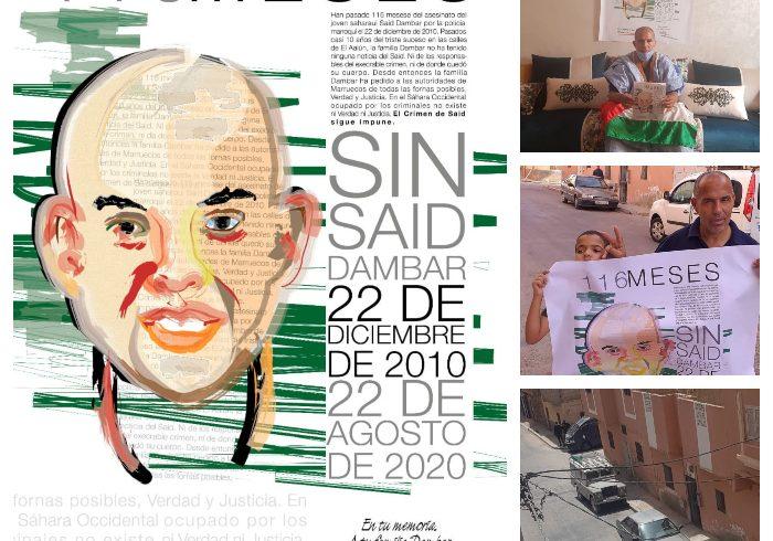 Marruecos sigue encubriendo el asesinato de joven saharaui   POR UN SAHARA LIBRE .org