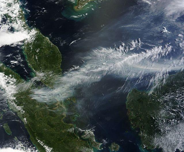Sudeste asiático visto desde el espacio
