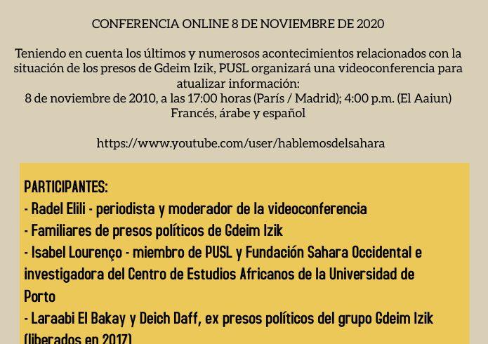 Conferencia: «Gdeim Izik: diez años de detención arbitraria» | POR UN SAHARA LIBRE .org
