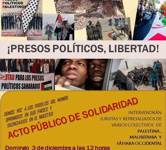 Acto por la libertad de los pueblos y de los presos políticos saharauis. En madr…