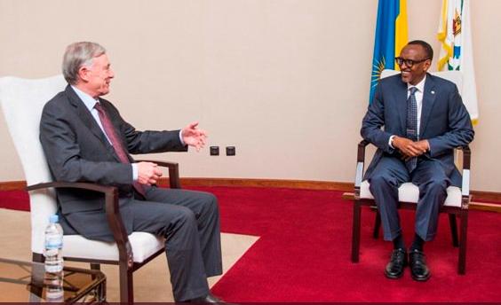 El presidente Paul Kagame recibe al Enviado Personal SG / NU para el Sáhara Occidental