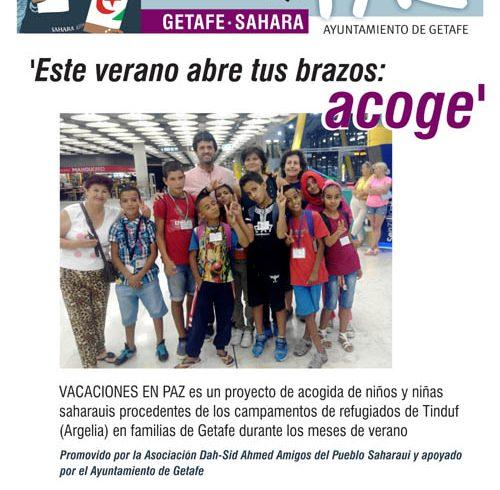 Vacaciones en Paz, acoge un niño o una niña saharaui este verano en Getafe con el Sahara – CEAS-Sahara