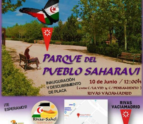 Nueva fecha para la inauguración del Parque del Pueblo Saharaui.  No podéis falt…