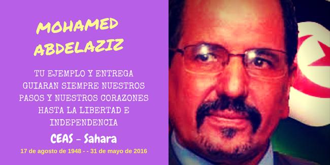 II Aniversario fallecimiento Mohamed Abdelaziz – CEAS-Sahara