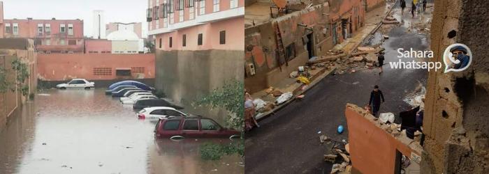 Fuertes lluvias y la total falta de infraestructuras en las ciudades del Sáhara ocupado ahogan a El Aaiun – POR UN SAHARA LIBRE .org