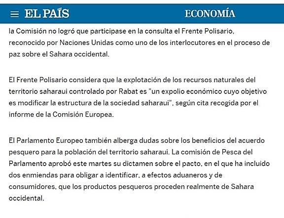 El acuerdo de pesca EU-Marruecos no será aprobado sin la votación del Parlamento, PE