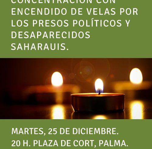 Concentración de apoyo a los presos politicos y desaparecidos saharauis – CEAS-Sahara
