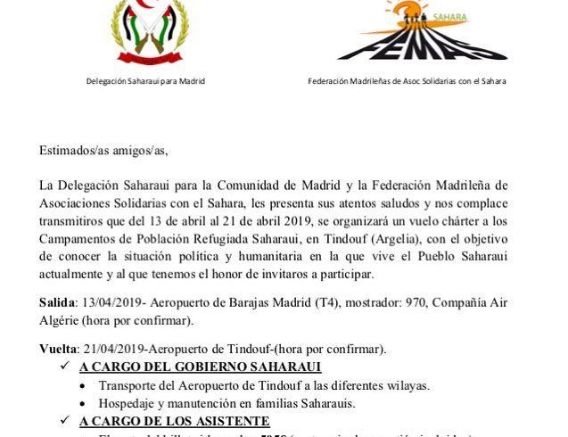 Aquí tenemos la información del vuelo charter en la comunidad de madrid. Aquello…