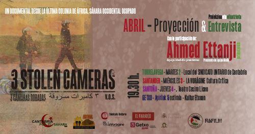 Proyección documental saharaui «3 cámaras robadas» – CEAS-Sahara