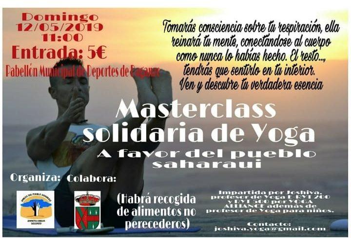 Domingo 12 de Mayo. Yoga solidario en Daganzo. Se recogerán alimentos no pereced…