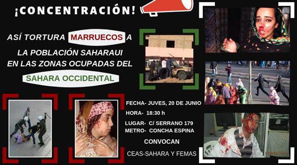 Convocamos concentración delante de la Embajada de Marruecos – CEAS-Sahara