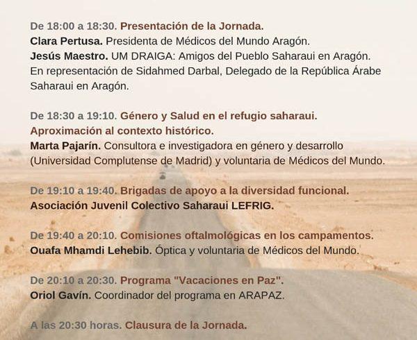 Jornada Médicos del Mundo sobre Derecho a la Salud de la Población Refugiada Saharaui – CEAS-Sahara