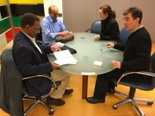 Reunión entre la delegación saharaui y el consejero de Política Migratoria y Justicia del Gobierno de Navarra