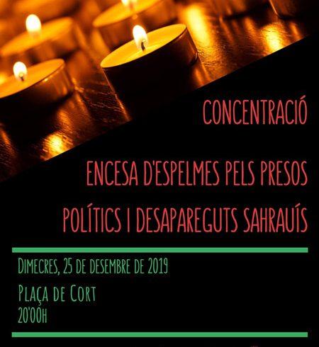 25D Concentración por los presos políticos saharauis desaparecidos en Palma – CEAS-Sahara