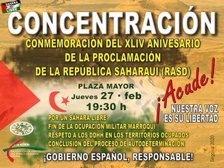 Concentración en Segovia en conmemoración del 44 aniversario de la RASD – CEAS-Sahara