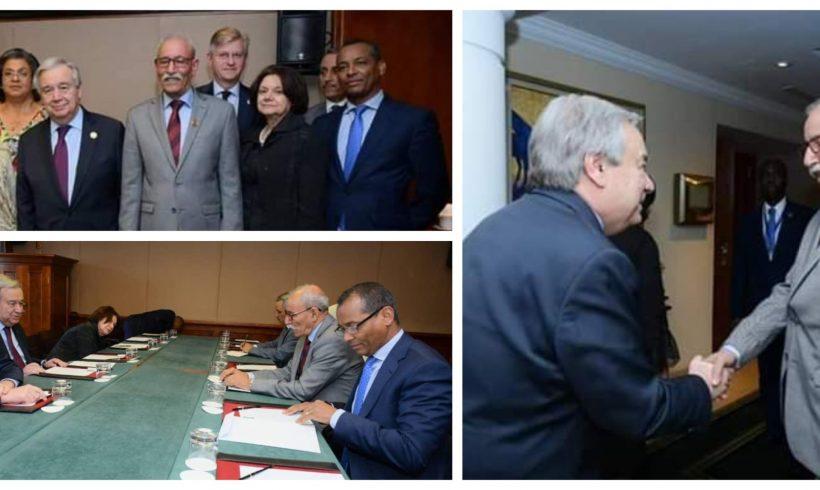 El presidente de la República Saharaui se reúne con el Secretario General de la ONU en Adís Abeba | POR UN SAHARA LIBRE .org