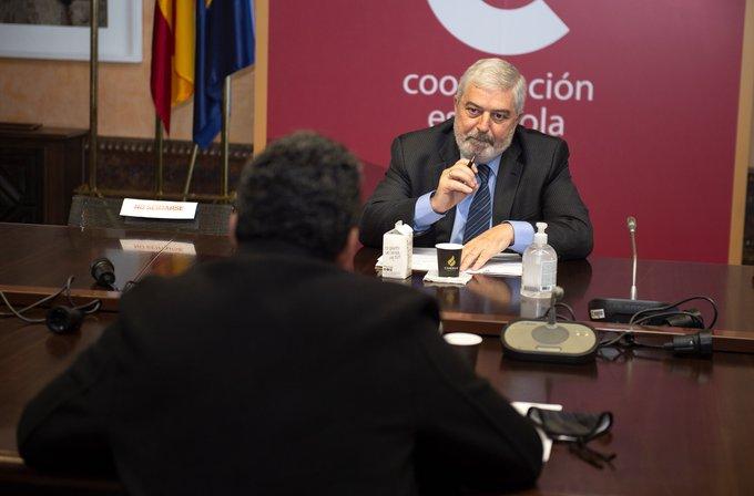 ممثل البوليساريو بإسبانيا ومدير وكالة التعاون الإسبانية يتفقان على زيادة الدعم الإجتماعي للشعب الصحراوي.