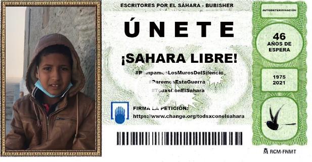 Bubisher QUE LA SUERTE ACOMPAÑE AL PUEBLO SAHARAUI