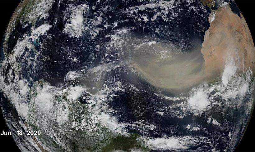 La NASA predice menos polvo del Sáhara cruzando el Atlántico